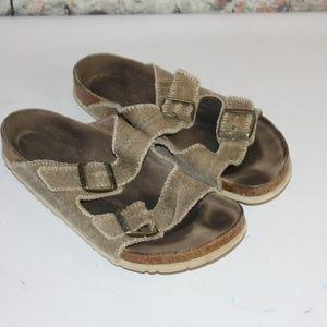 Birkenstock Burlap Flip Flop Sandals Size 41/10